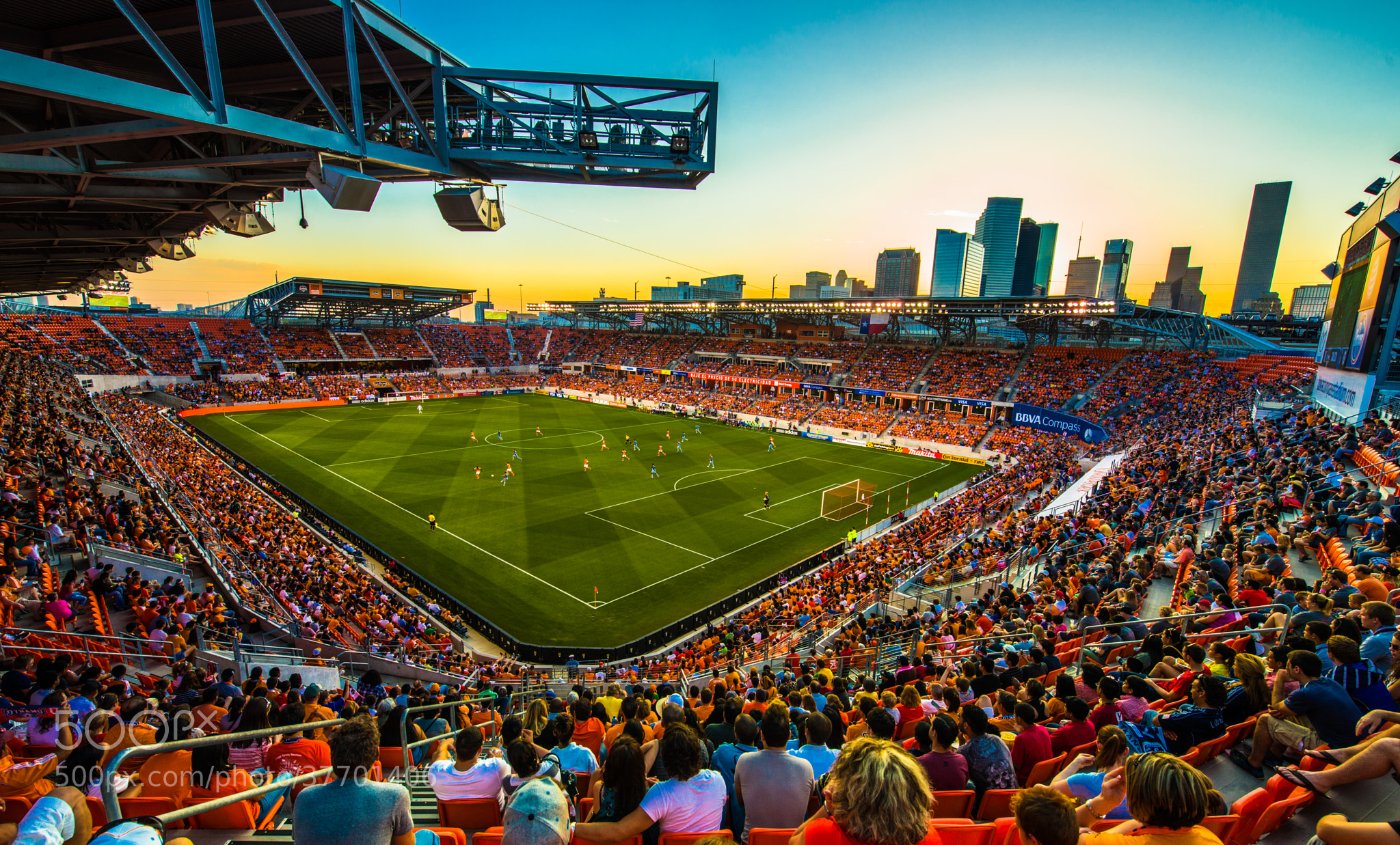Photograph Sunset over BBVA Compass Stadium by hdngo24 on 500px