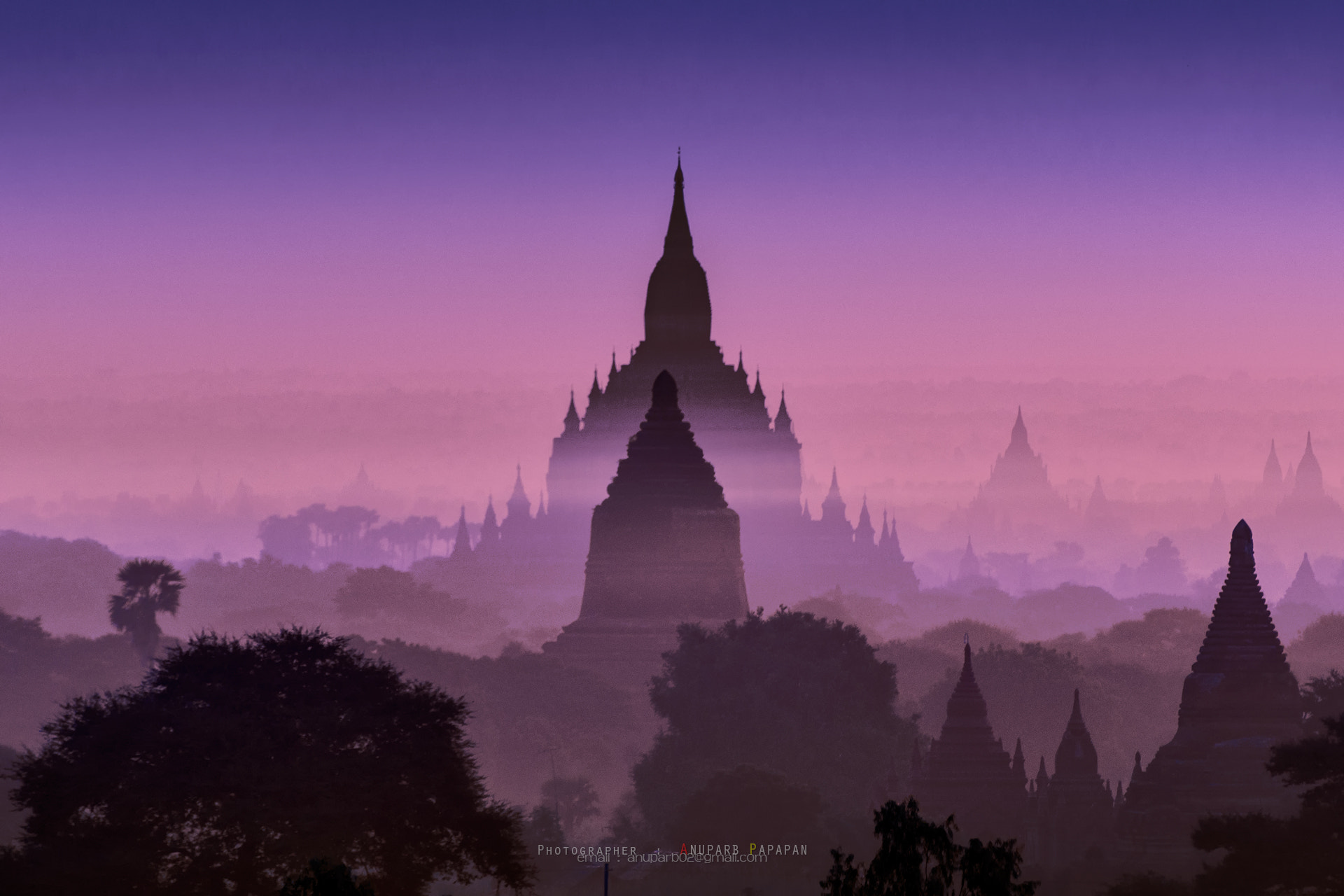 Photograph Bagan in Blue Tone by Anuparb Papapan on 500px