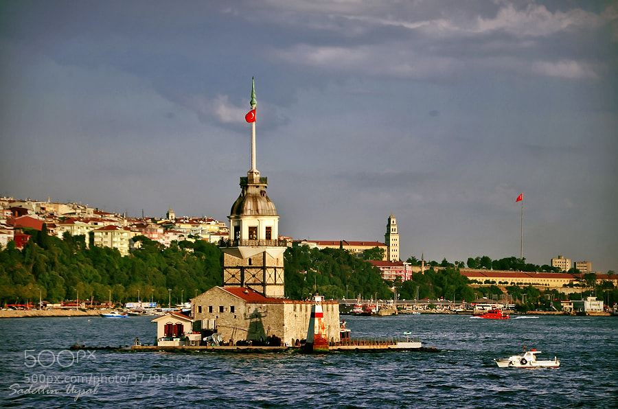 Photograph Different Angle   -   Maiden's Tower  by Sadettin  Uysal on 500px