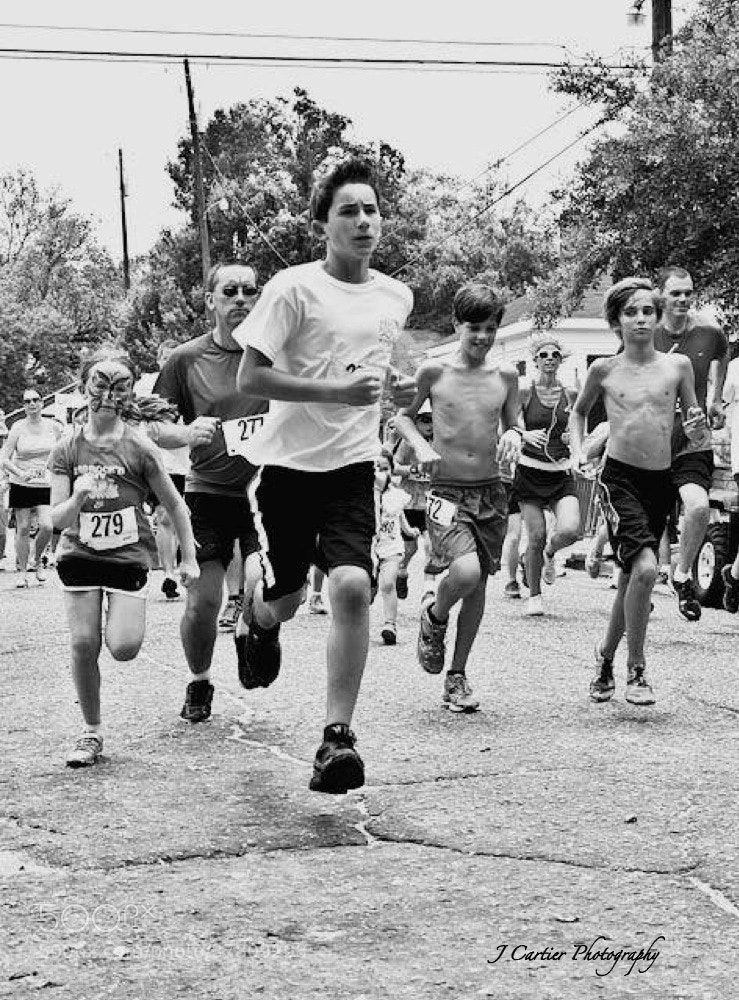 Photograph Young Runners by Jerome Cartier on 500px