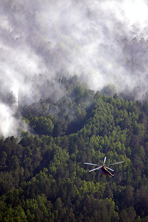 Photograph Helicopter over a forest fire. by Vladimir Melnikov on 500px