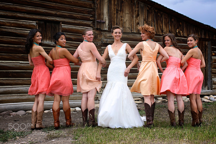 Photograph Bridesmaids in Boots by Marcacci Blu Photog on 500px