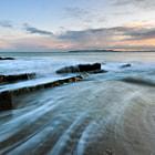 A view of Howth, Co Dublin from Portmarnock beach