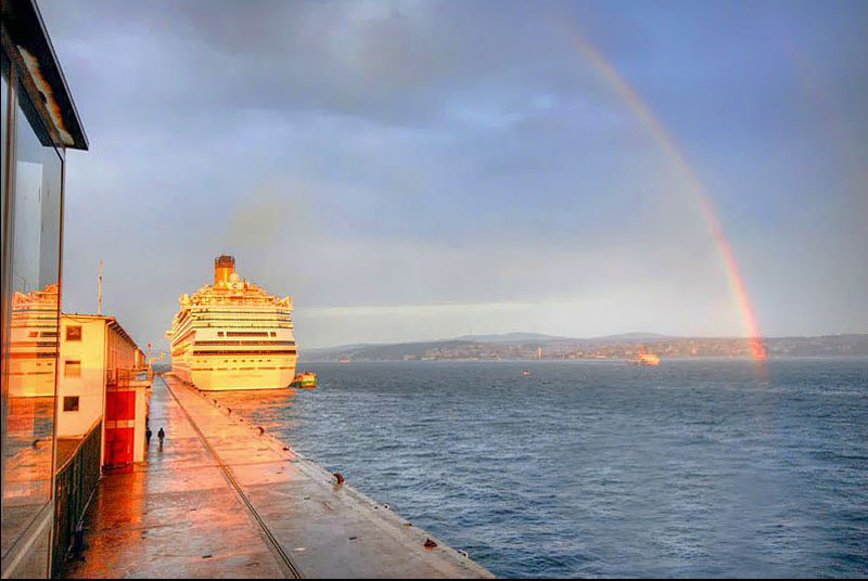 Photograph Istanbul Seaport and Rainbow by Salih Zorbozan on 500px