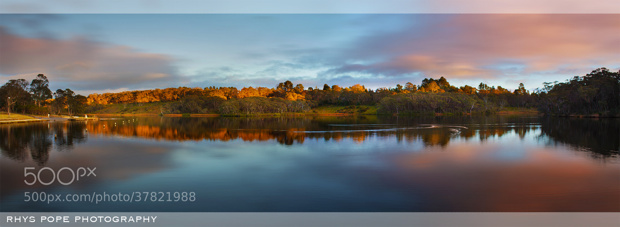 Photograph Sunrise On The Lake || WENTWORTH FALLS by Rhys Pope  on 500px