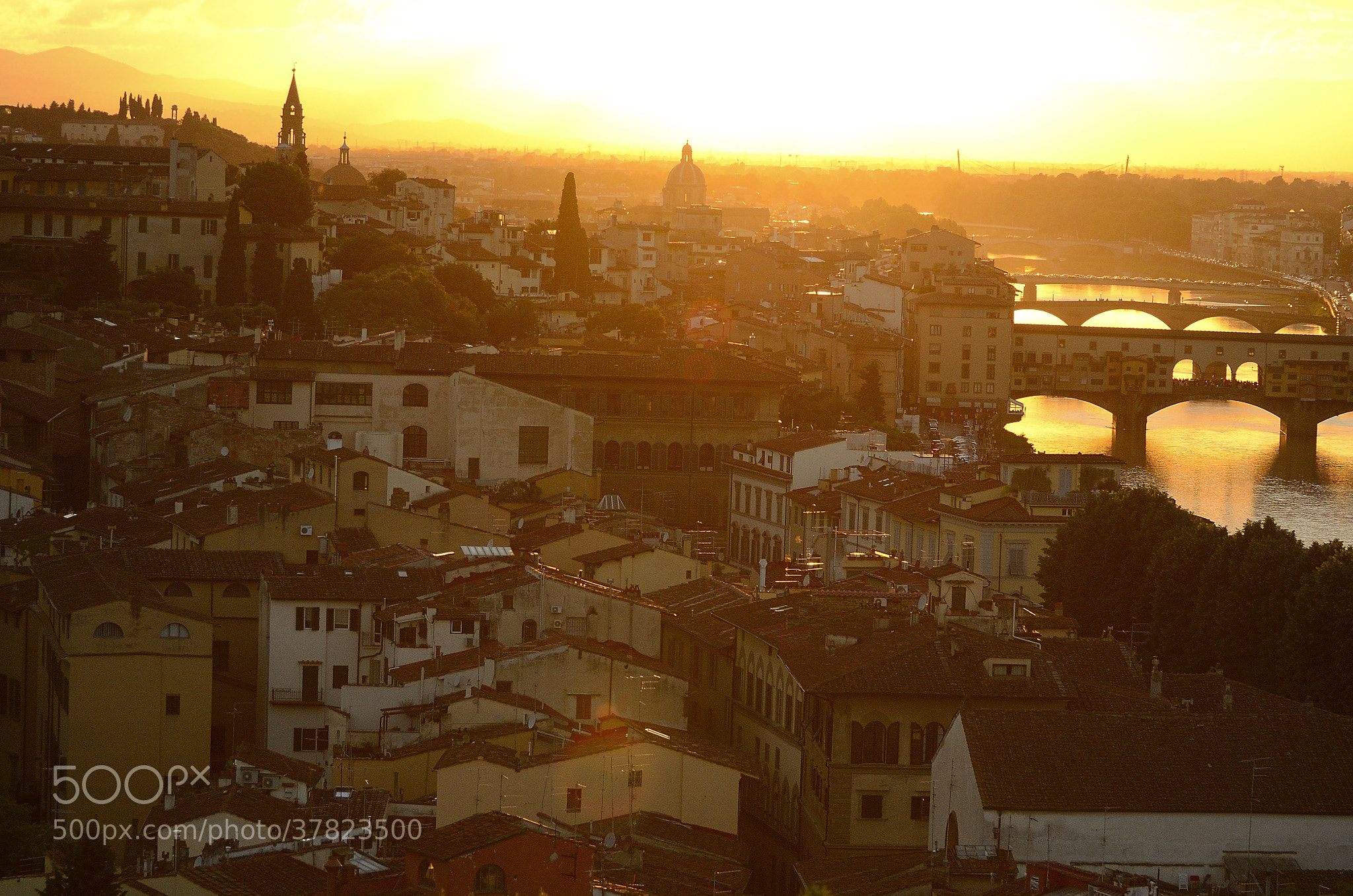 Photograph sunset view of Florence by derevnja on 500px
