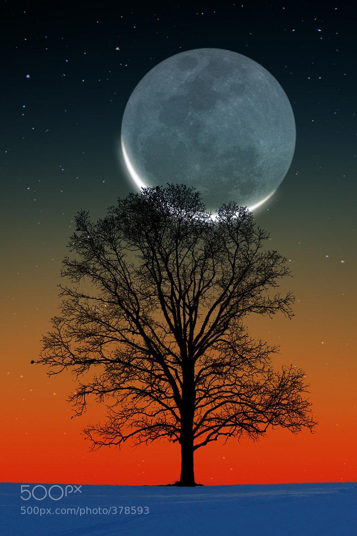 Photograph Sunset Crescent Moon by Larry Landolfi on 500px