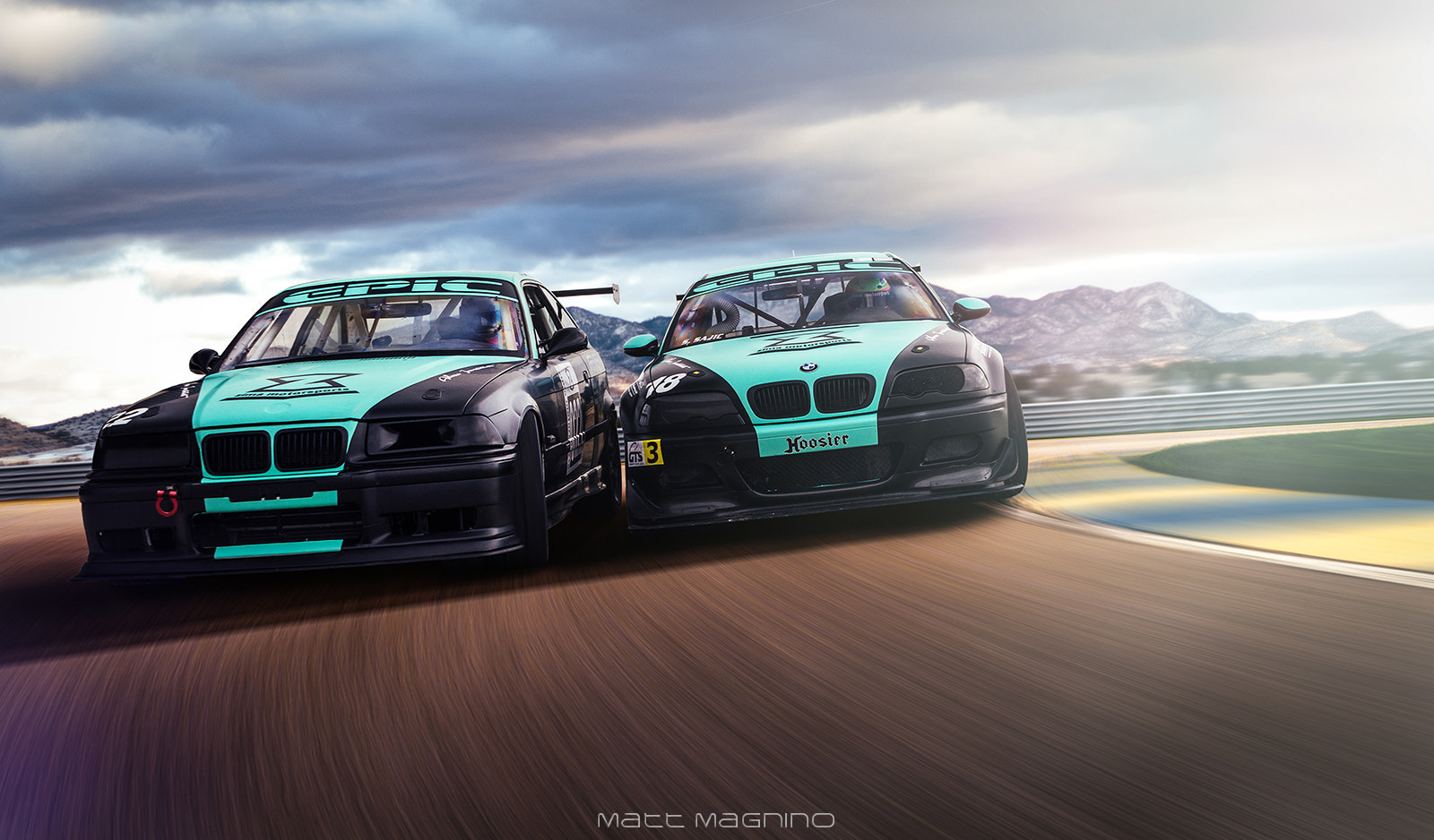 Photograph Battling for the Lead: Zima Motorsports M3s by Matt Magnino on 500px