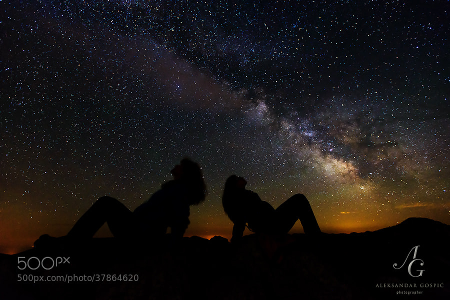 Mesmerized by the stars and disk of our galaxy which stretches across the night sky above Zavižan on Velebit mountain