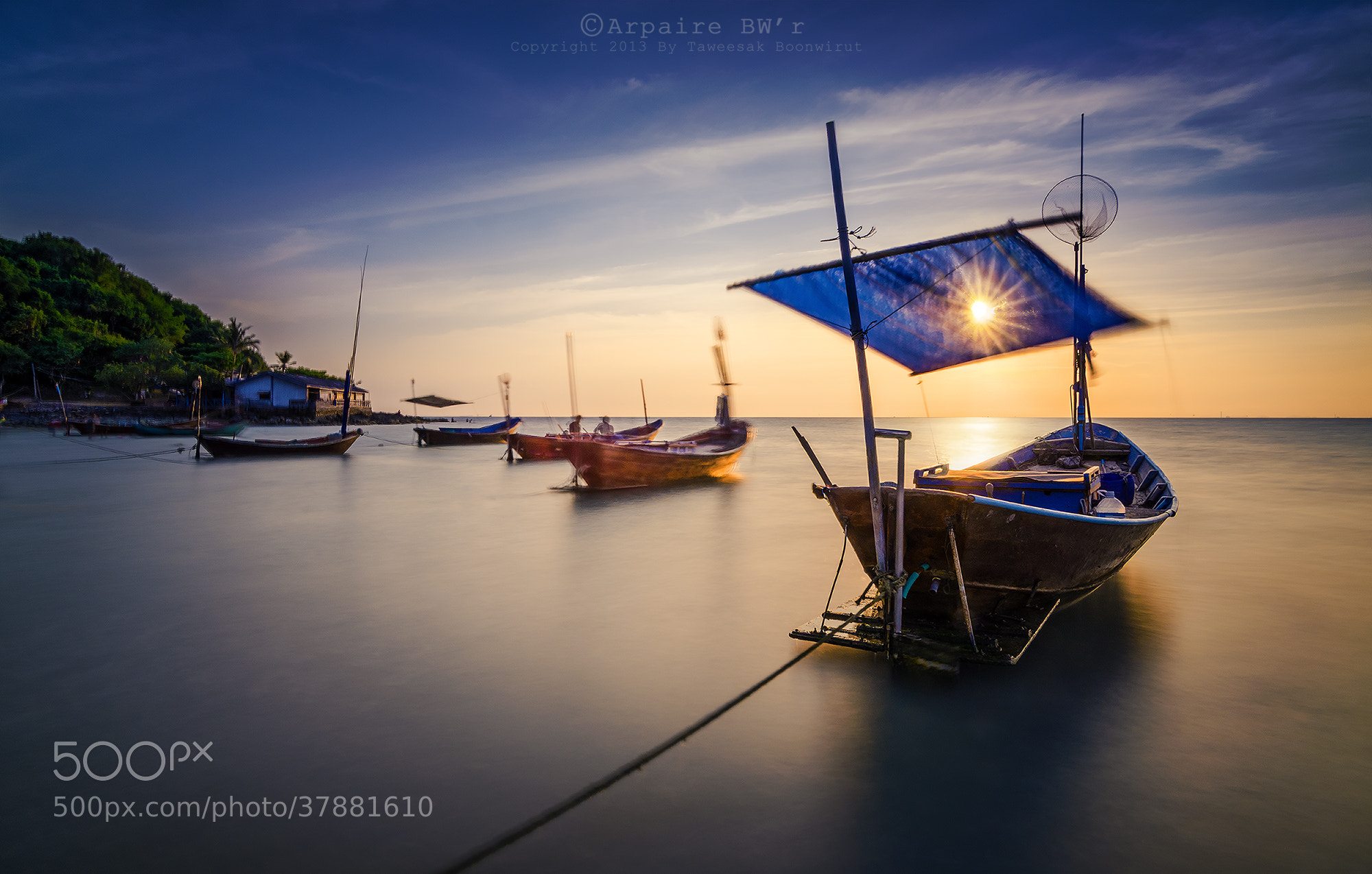 Photograph Fishing Boats by Taweesak Boonwirut on 500px
