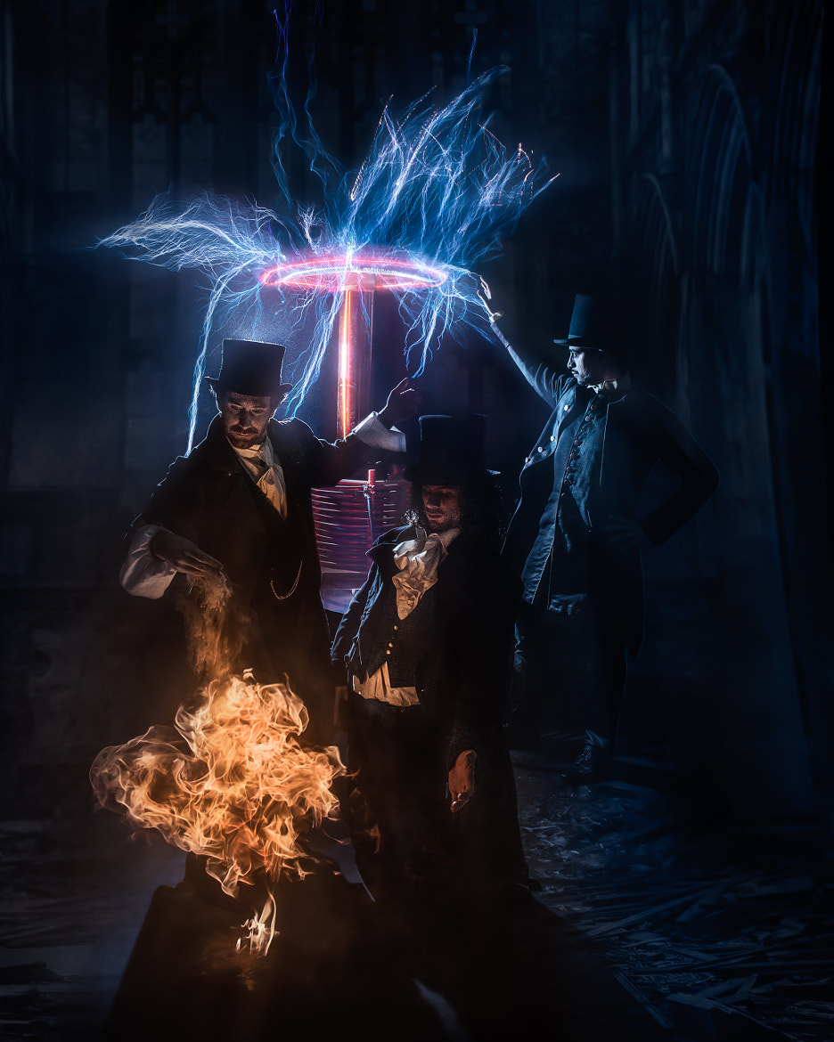 Photograph Tesla coils & pyrotechnics by Benjamin Von Wong on 500px