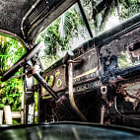 Постер, плакат: Old Vintage Dodge Pickup Truck Interior View 1