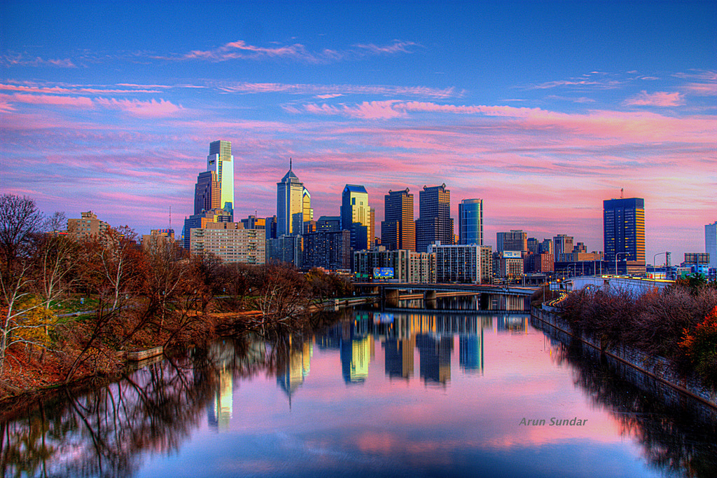 Photograph Philadelphia skyline - HDR by Arun Sundar on 500px