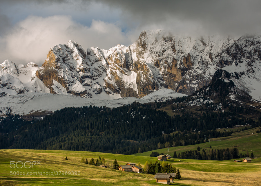 Photograph Dolomites morning with snow by Hans Kruse on 500px