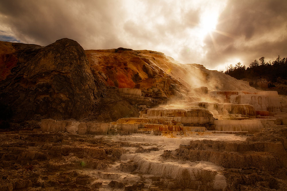 Photograph Mammoth Hot Springs by Ivan Peña on 500px