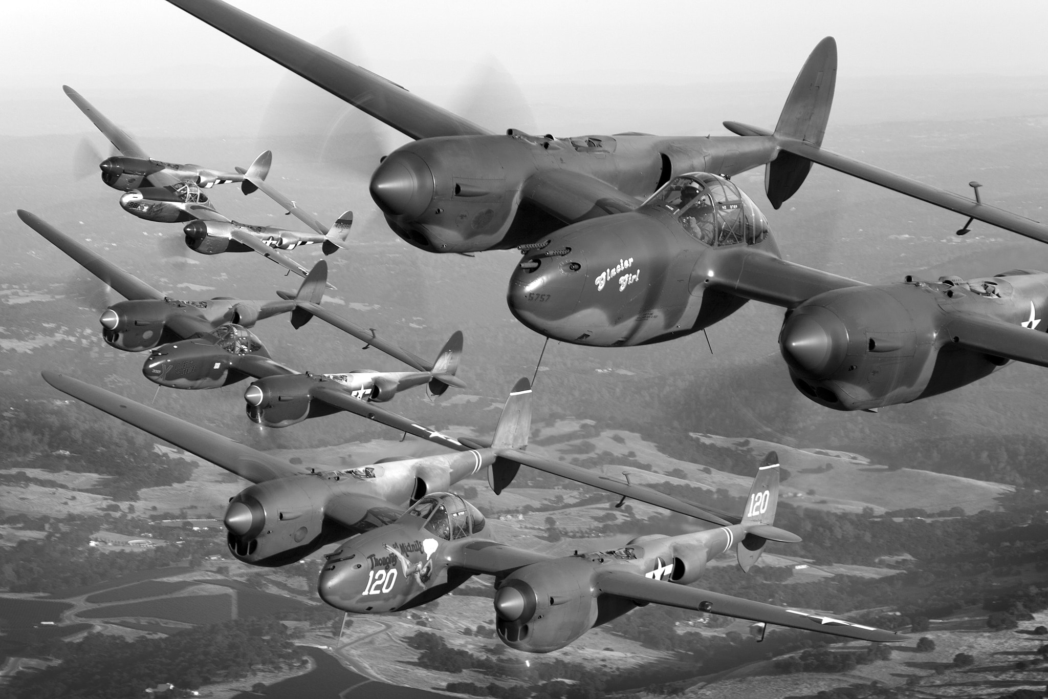 Photograph Lightning Storm - Gathering of P-38 Lightnings by Tyson Rininger on 500px