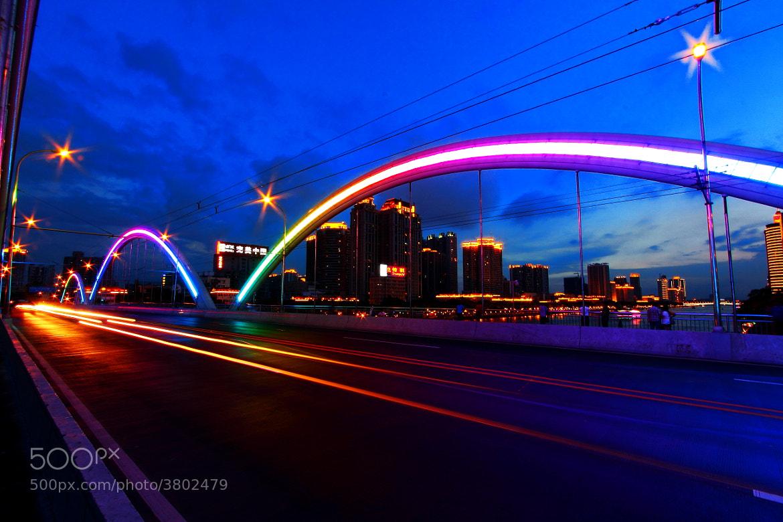Photograph LED Bridge by Varit Limwibul on 500px