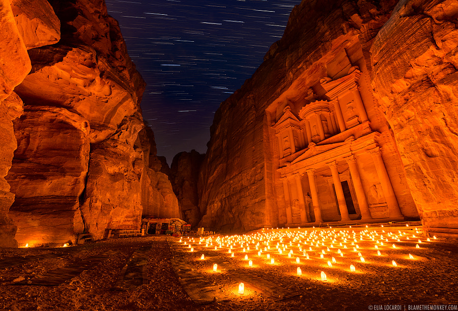 Photograph Time Stands Still | Petra By Night by Elia Locardi on 500px