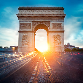 Arc de Triomphe Twilight by Kajo Photography (kajo)) on 500px.com
