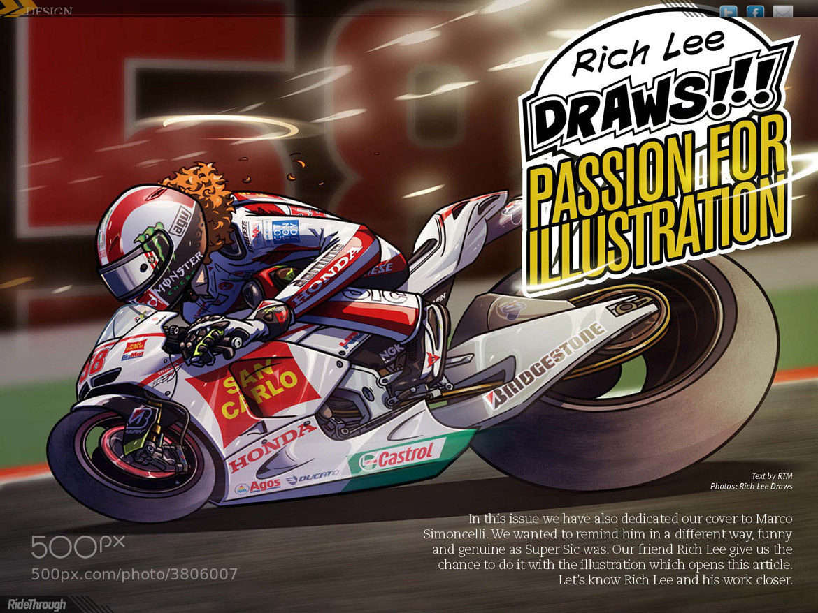 Photograph Rich Lee Draws - Passion for Illustration by Ride Through Mag on 500px
