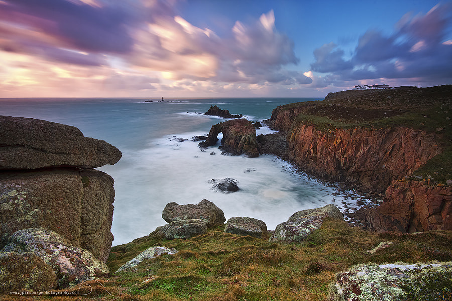 Land,s End Cornwall.The wind was strong but it was the stunning Cornish coastline what took my breath away such an amazing place.
