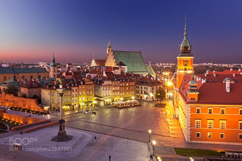Photograph Twilight  at Plac Zamkowy (Warsawa) by Sonia Blanco on 500px