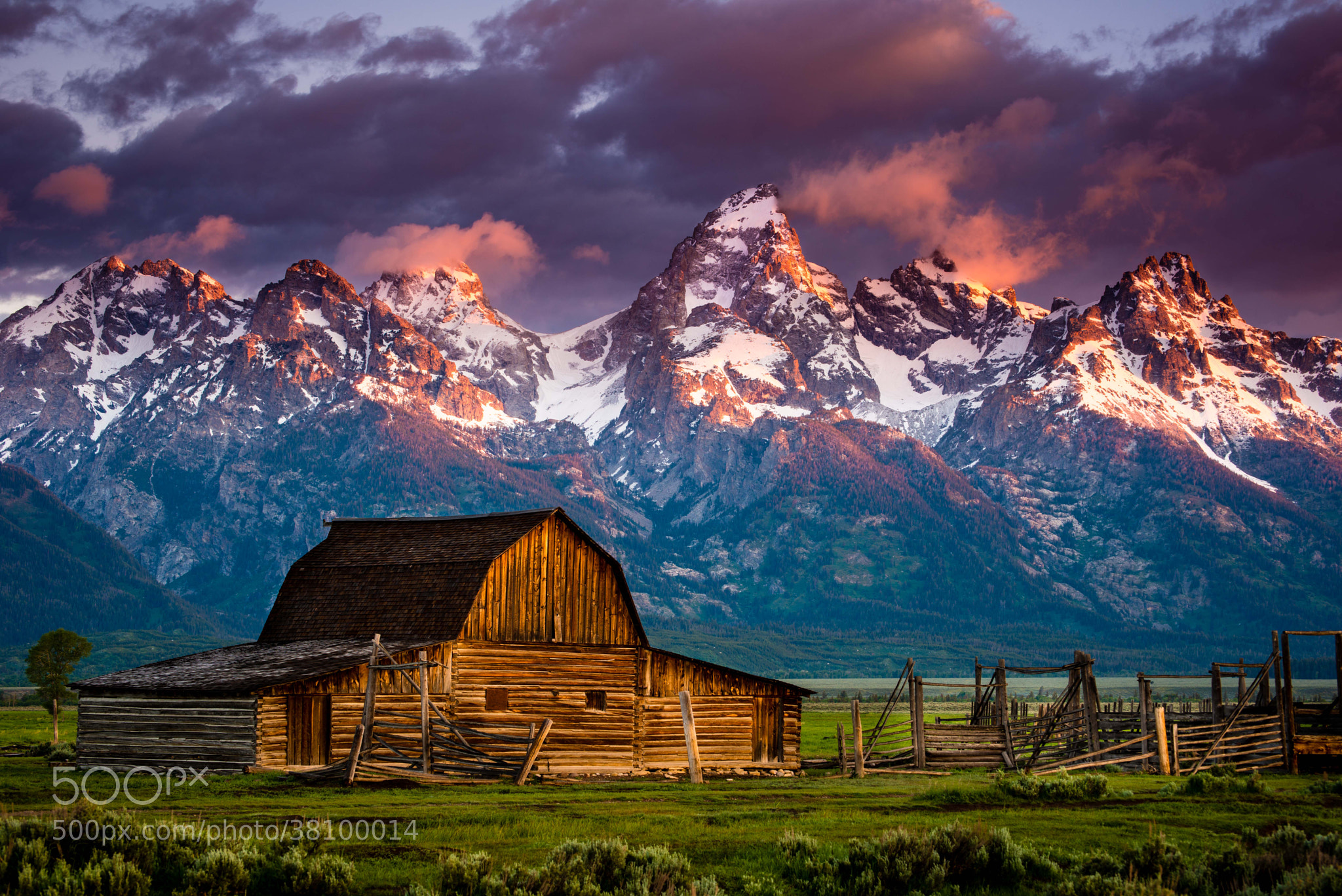 Photograph A Mornings Rise Mormon Barn Grand Tetons by Dan Ballard on 500px
