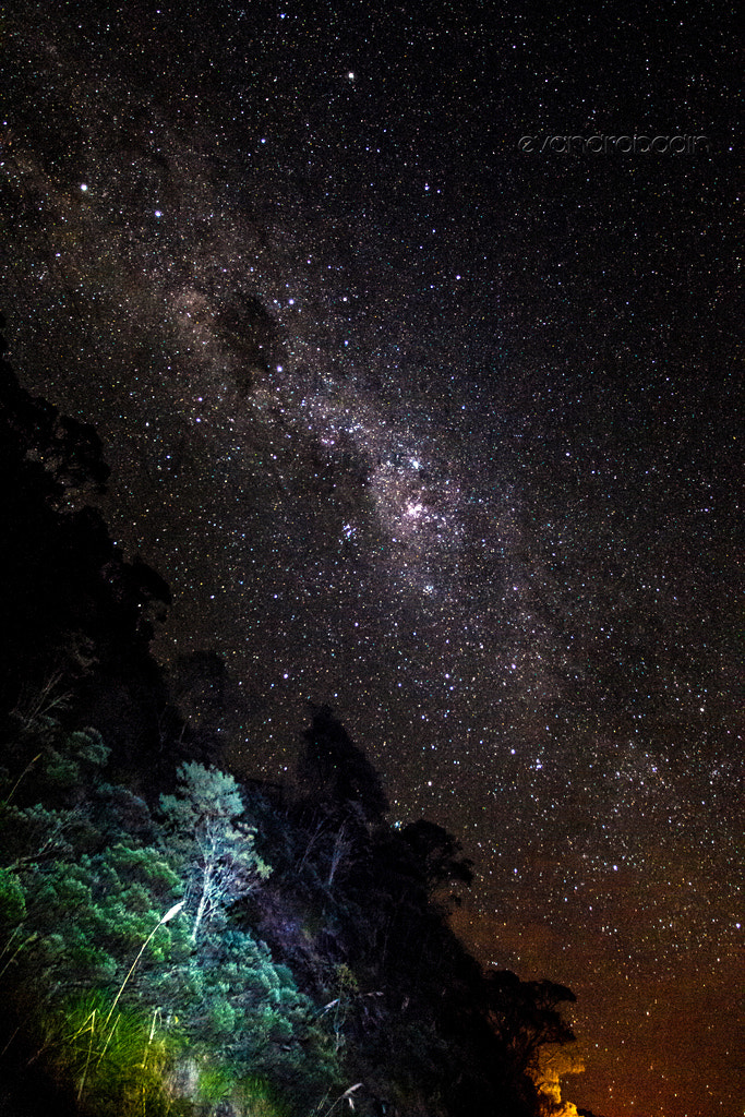 Photograph Starry sky in the mountains by Evandro Badin on 500px