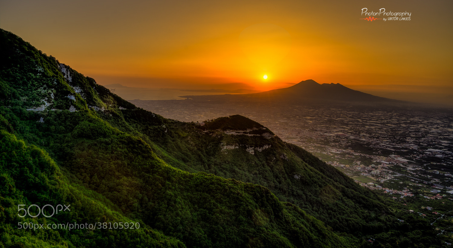 Photograph Sunset above Mount Vesuvius by PhotonPhotography -Viktor Lakics on 500px