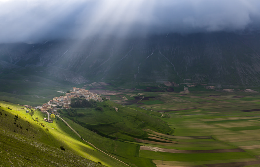 Photograph Castelluccio in the spot light by Hans Kruse on 500px