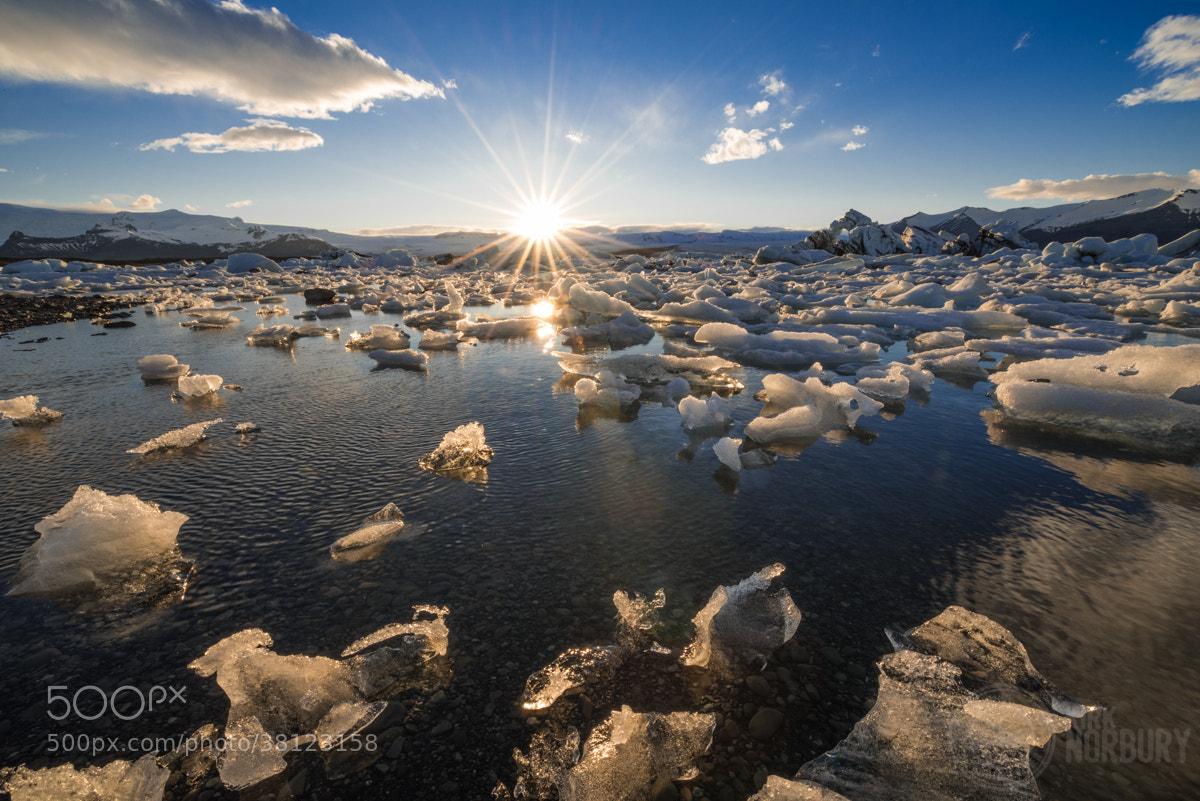 Photograph Sun Sets At Jökulsárlón Lagoon by Kirk Norbury on 500px