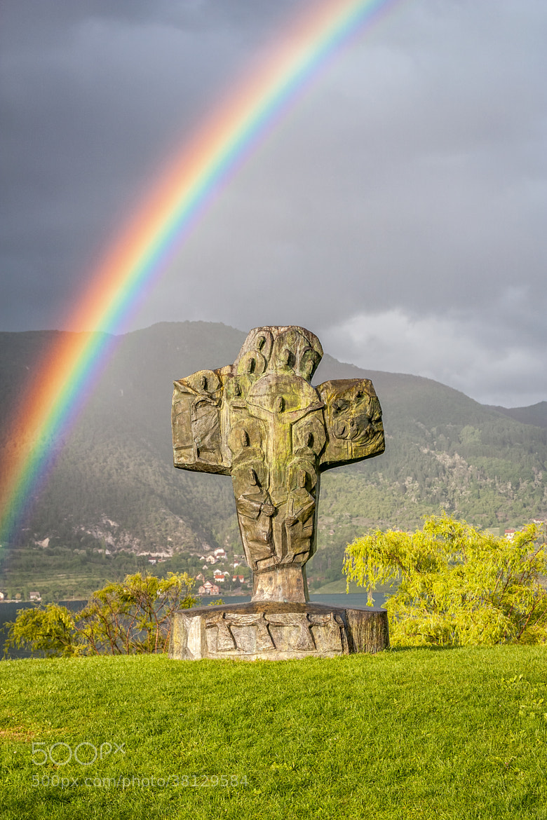 Photograph Cross and rainbow by Damir Misura on 500px