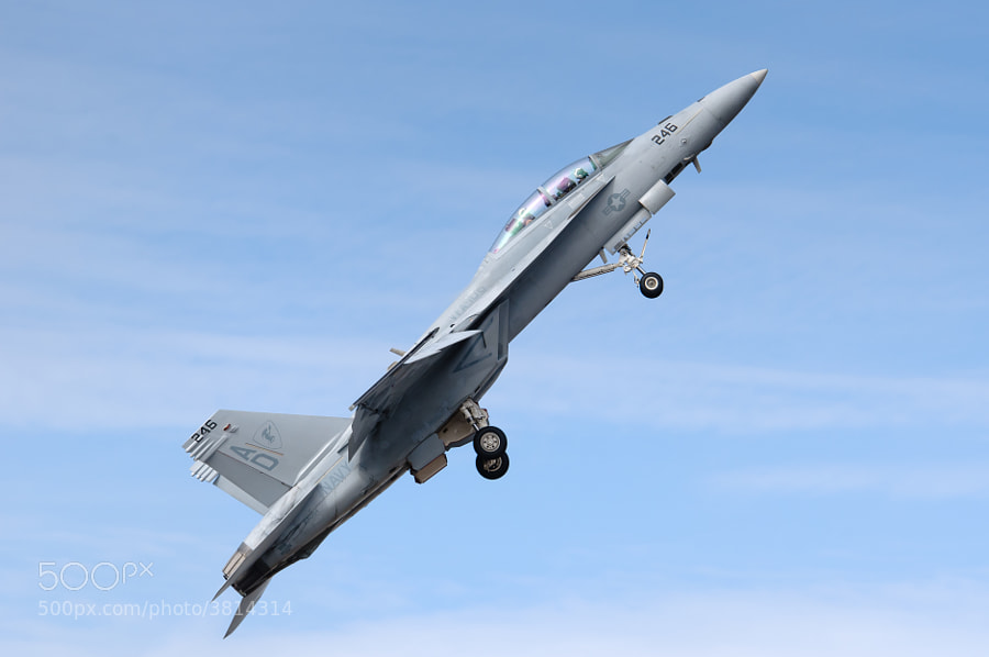 F/A-18F Super Hornet climbs into the Florida sky at the 2011 NAS Pensacola Homecoming Air Show