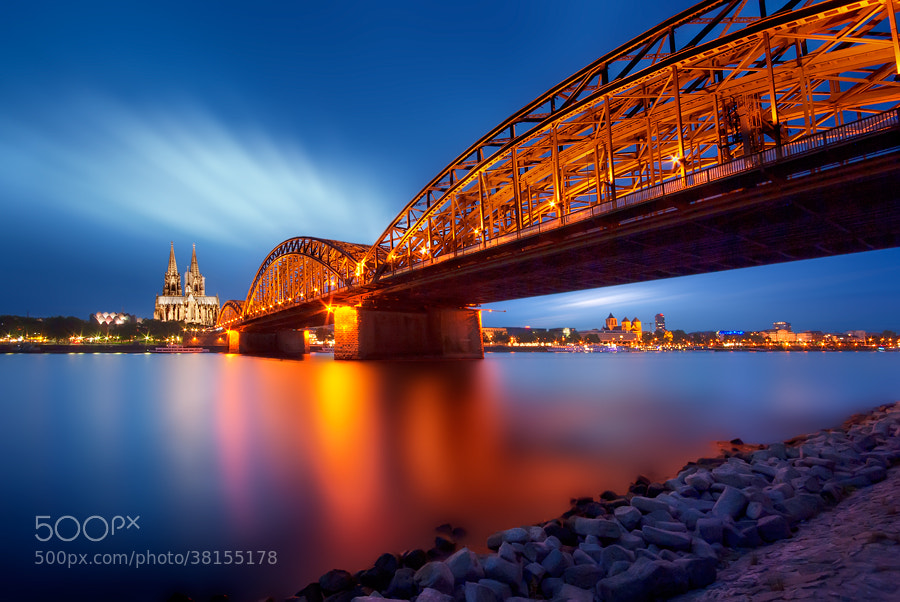 Photograph Cologne - Germany- Blue Hour by Iván Maigua on 500px