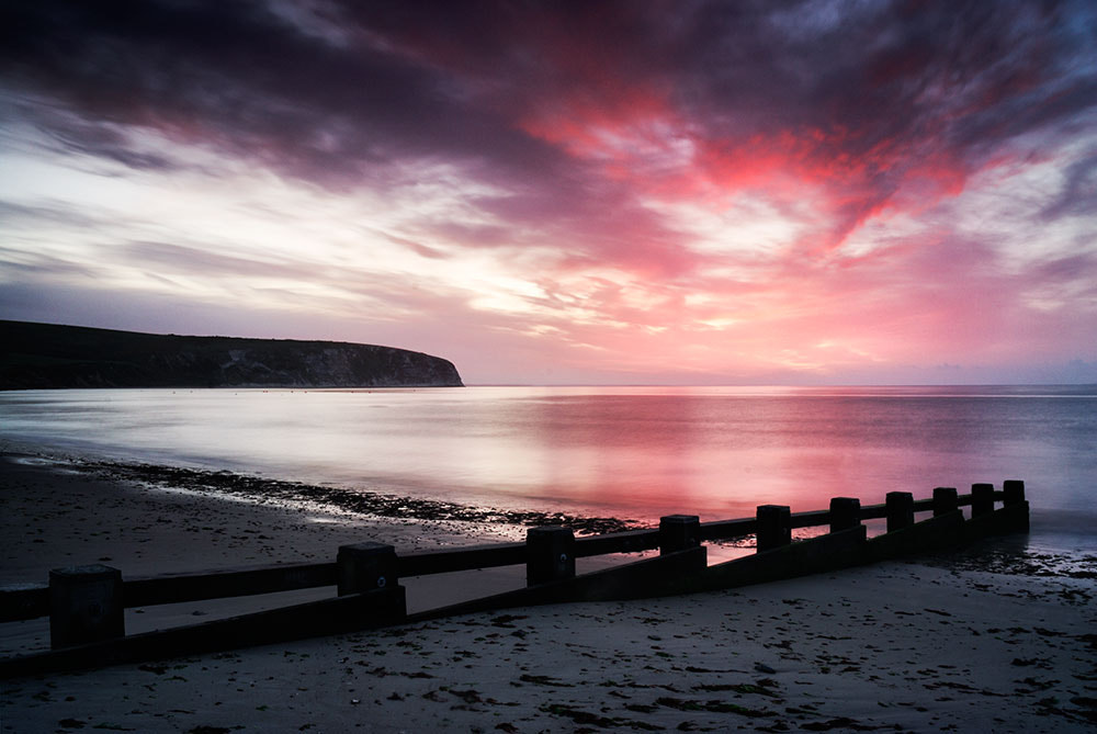 Photograph Morning beach in red by Tony  on 500px