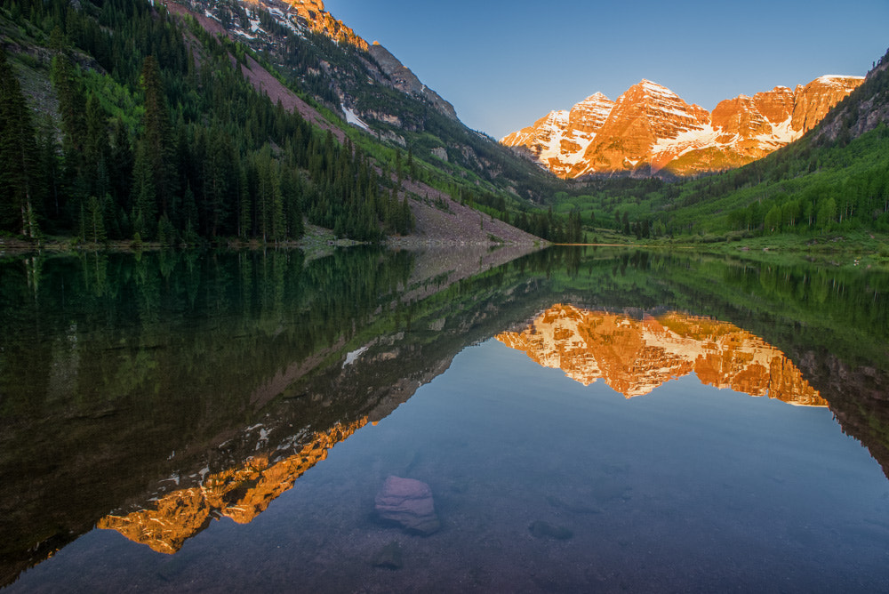 Photograph Maroon Bells Reflection by Nick Henderson on 500px