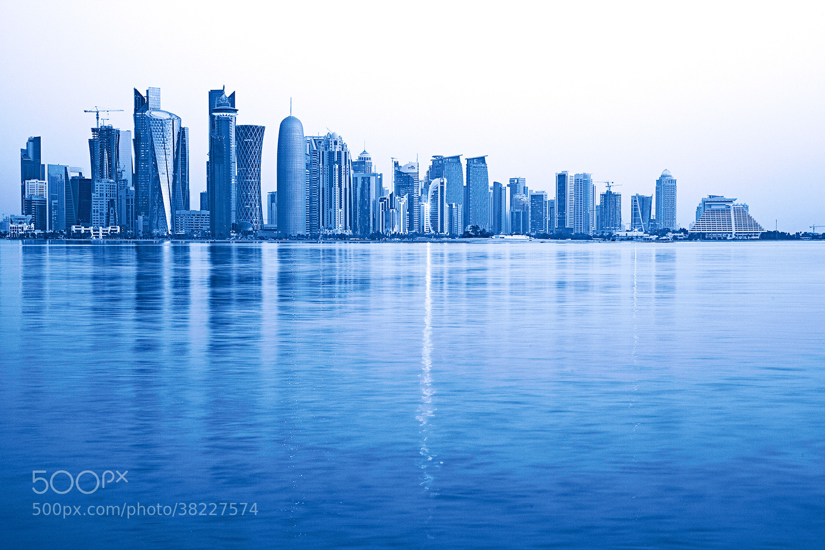 Photograph West Bay skyline, Doha, Qatar by Dennis Guichard on 500px