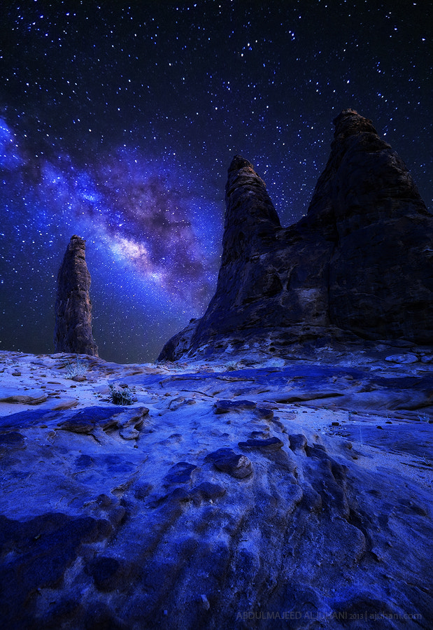 Photograph Milky Mountains by Abdulmajeed  Aljuhani on 500px