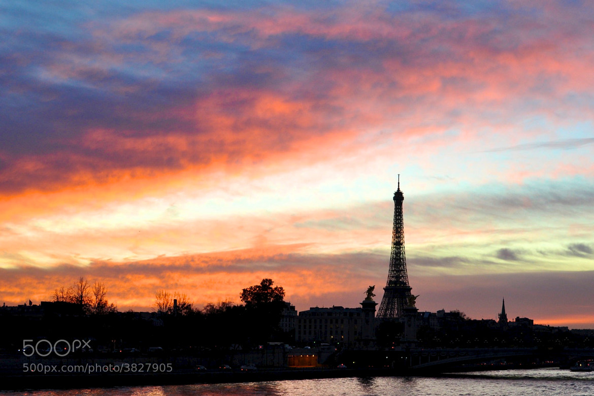 Photograph Sunset on Paris by Angelus YODASON on 500px