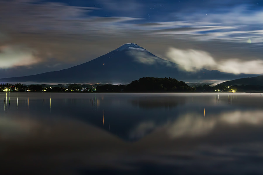 This is Mt.Fuji in late night under the moon light. Today Mt.Fuji will be listed as sites of the world heritage. (taken at 1:37 AM, 22nd June 2013)