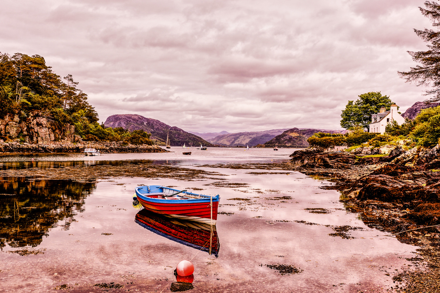 Photograph Red Boat at Plockton by RALPH  on 500px