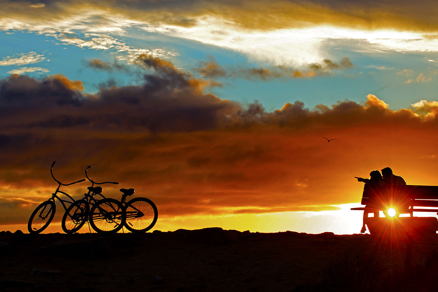 A Couple with Two Bikes at Sunset in Dana Point. by Rich Cruse on 500px