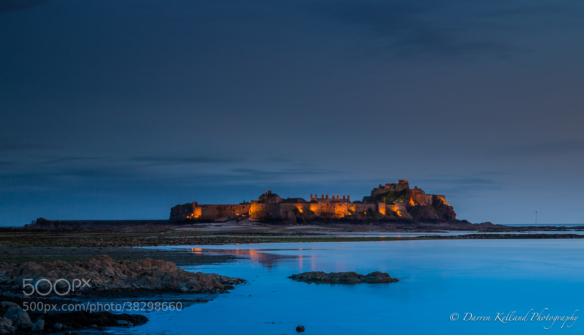 Photograph Dusk at Elizabeth Castle by Darren Kelland on 500px
