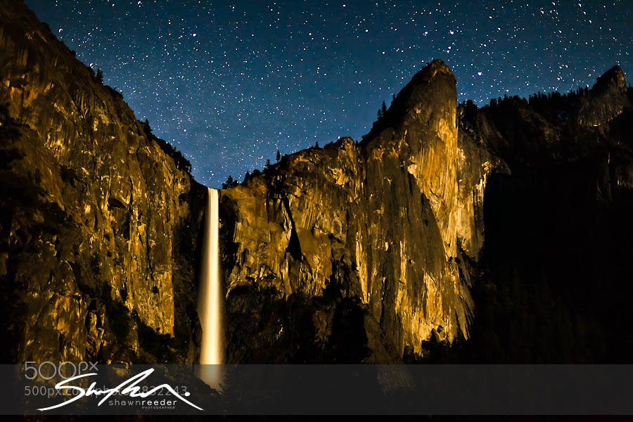 Photograph Bridalveil Falls by Lunar Light by Shawn Reeder on 500px