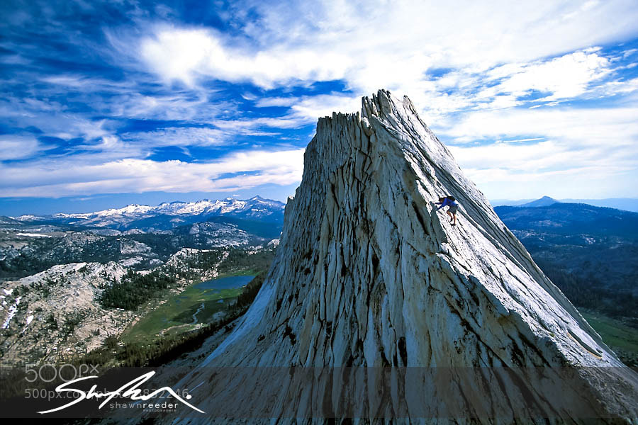 Photograph Climber on the Matthes Crest by Shawn Reeder on 500px