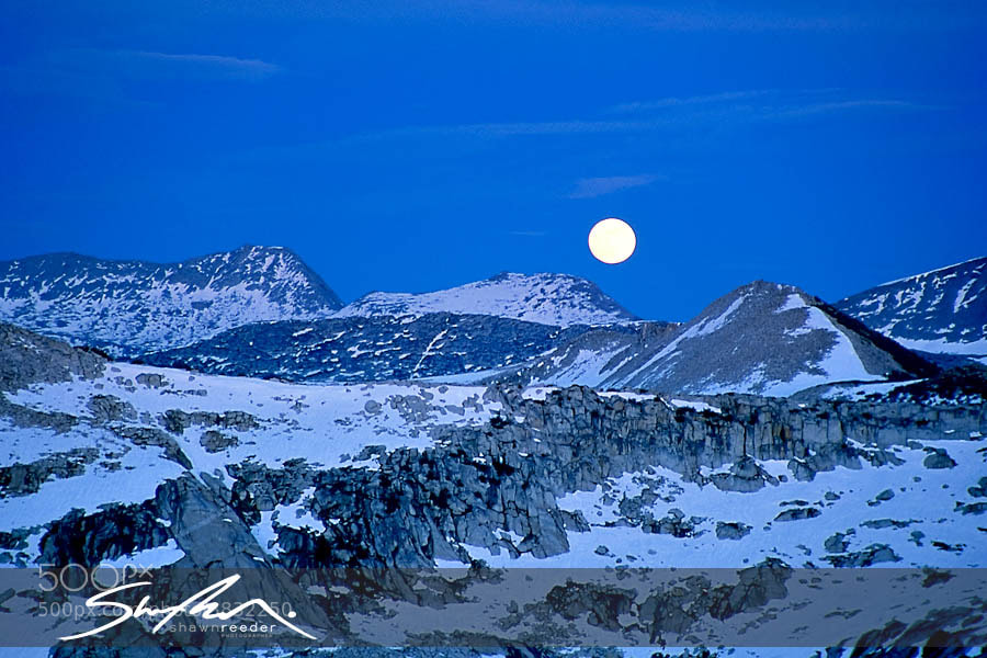 Photograph Blue Moon from Cathedral Peak by Shawn Reeder on 500px