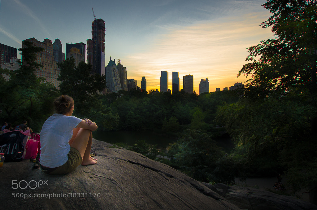Photograph Coucher de soleil à Central Park. New York City. by Lionel Ducreau on 500px