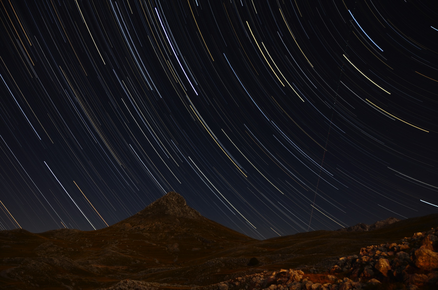 Photograph Startrails sul Monte Bolza by Cristian Martinelli on 500px