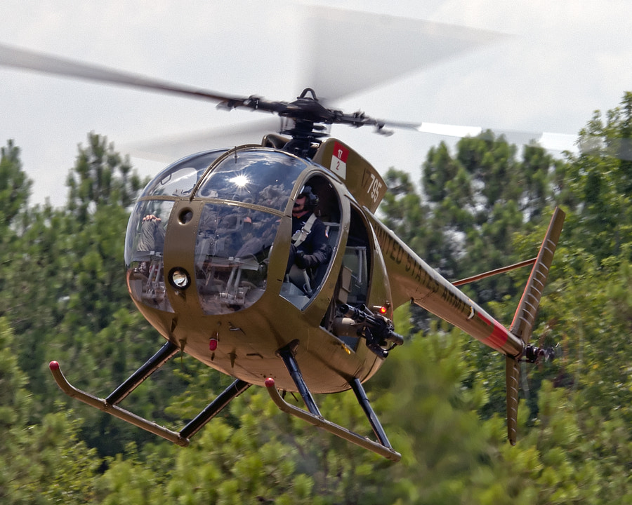 Army Aviation Heritage Foundation's Loach helicopter.
