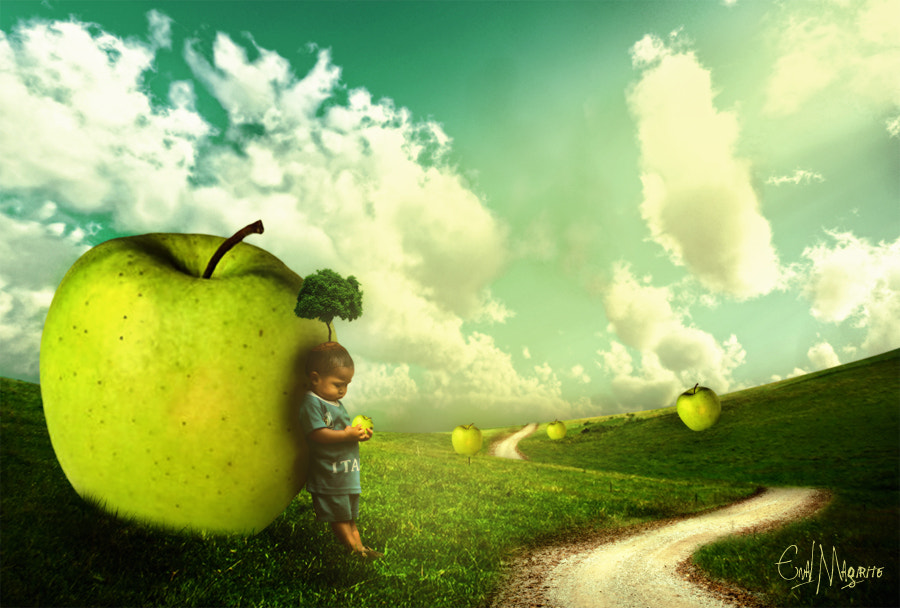 Photograph apple & little child by enal magirite on 500px